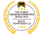 Banners for Top 15 Best Canadian Parenting Blogs 2019