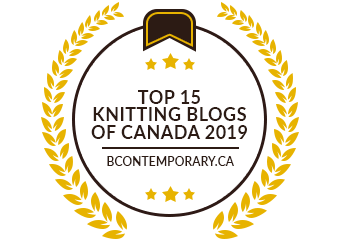 Banners for Top 15 Knitting Blogs of Canada 2019