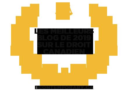 Bannières pour Les meilleurs blog de 2019 sur le droit Canadien